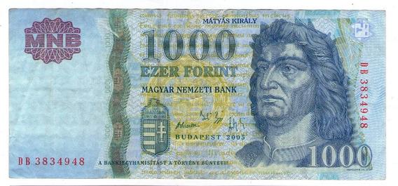 Hungria Billete 1000 Forint 2005 P#195a - Argentvs