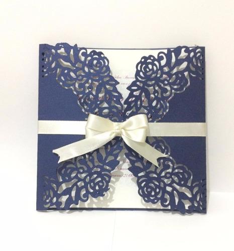 Imagem 1 de 4 de 40 Convites De Aniversário Casamento Formatura 15 Anos Luxo