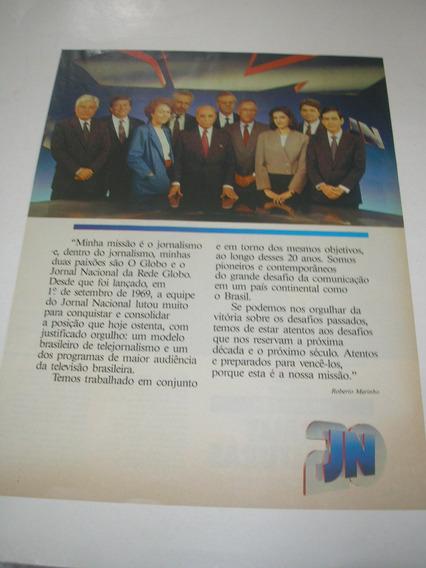 ( L - 290/ G ) Propaganda Antiga Rede Globo Jornal Nacional