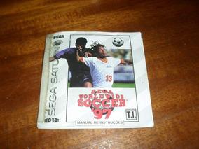 Manual Do Jogo Worl Widesoccer 97 Sega Saturno.
