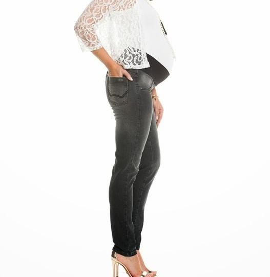 Calça Jeans Escura Para Gestantes Mommybaby
