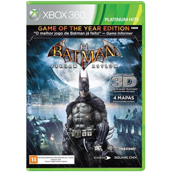 Batman Arkham Asylum Goty Edition Xbox 360 Original Completo
