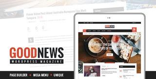 Tema Wordpress Goodnews Notícias, Revista Ou Blog Original