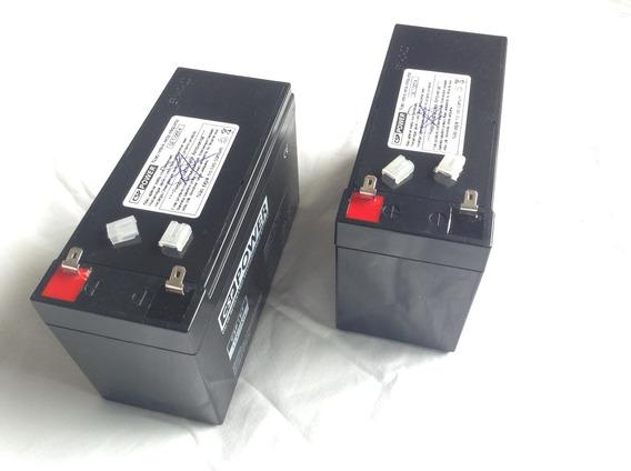 Kit 2 Baterias 12v 7.2ah Para Nobreaks Sms Nhs Enermax Ragtech Force Line Lacerda