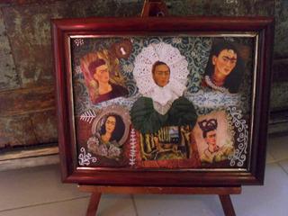 Cuadro Collage Frida Kahlo