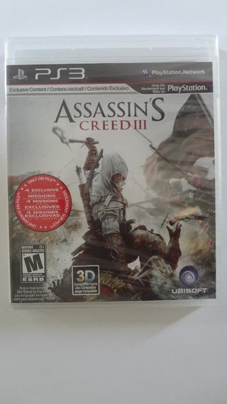 Assassins Creed 3 Para Ps3 (black Label) Novo E Lacrado