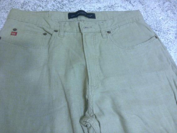 Pantalon Jean Verano Verde Seco Usado T 40
