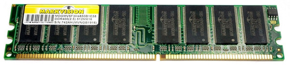 Memória Desktop Markvision 512mb Ddr 400 Pc3200 Double Sided