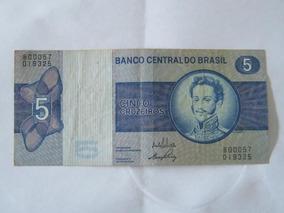 Cédula 5 Cruzeiros 1972