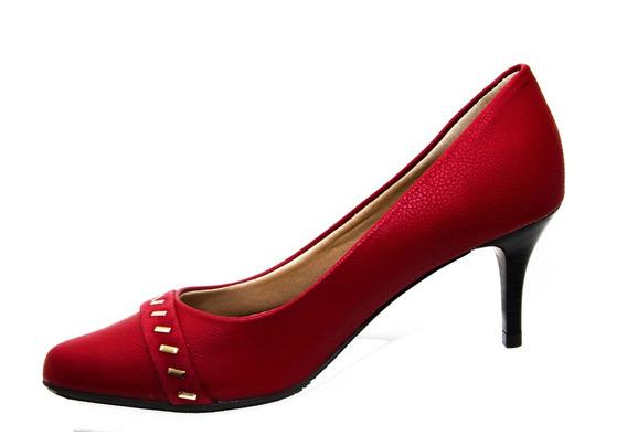 Salto Médio Napa Pele Jambo - Bistrô Shoes