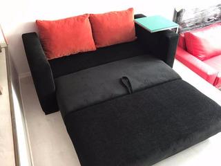 Sofa Sillon Cama De 2 Plazas En Chenille