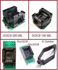 Adaptador Eprom Soic8 150 / 200mil Plcc32/32 Plcc32/28 Ic Ex