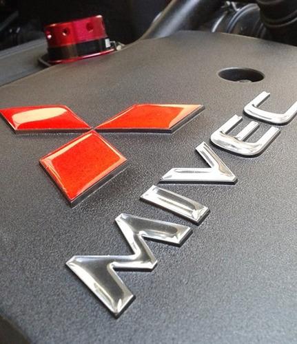 Imagem 1 de 3 de Adesivo Mivec Capa Motor Lancer Mitsubishi Resinado