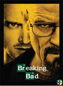 Quadro Poster Breaking Bad Modelo 1 Séries Tv Com Moldura A3