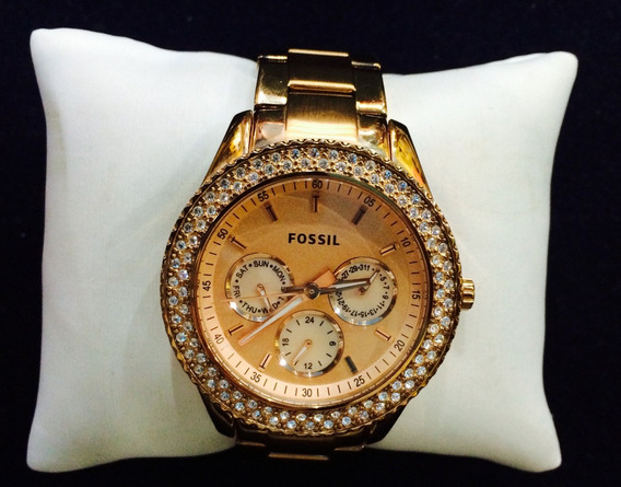 Relógio Feminino Fossil - Rosé - Funcionando!