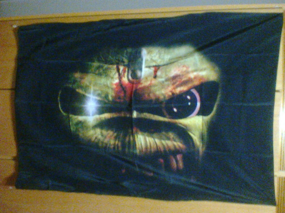 Bandeira Iron Maiden Somewhere In Time 100% Polyester