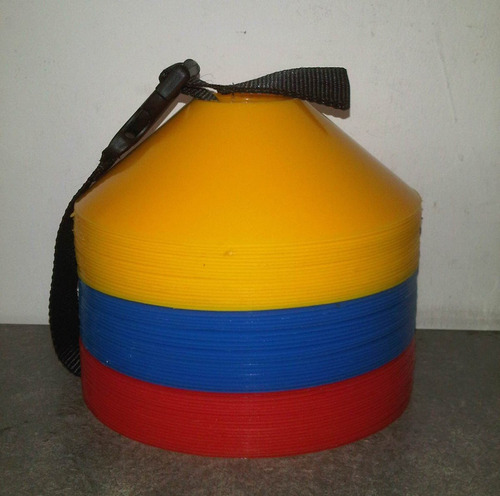 Set De 60 Conos Tipo Mina Tricolor
