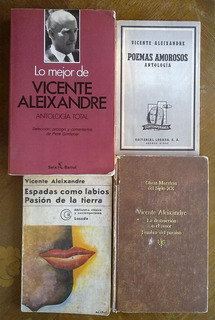 Vicente Aleixandre: Antologia Amorosos Labios Pasión Sombra