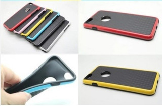 Capa Case Tpu Luxo Híbrido Iphone 6 Plus (5.5) + Pelicula