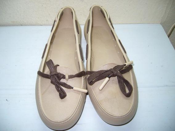 646 X - Sapato Marrom/claro/plástico Nº 36 Soft Mania