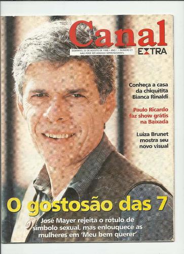 Canal Extra 21, Ano 1 (agosto 1998) Veja Os Destaques