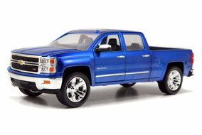 Chevy Silverado Pick Up 2014 Azul 1:24 Jada