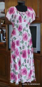 Vestido Con Flores Retro Vintage Ts Tela Alemana