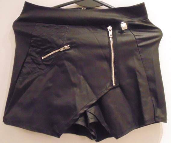 Pollera Pantalon Negro Talle Small Tabatha Cierres