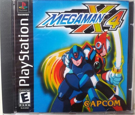 Megaman X4 Completo Com Box Acrilico - Ps1, Psone