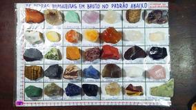 Coleção 35 Pedras Preciosas Brutas Diferentes Identificadas!