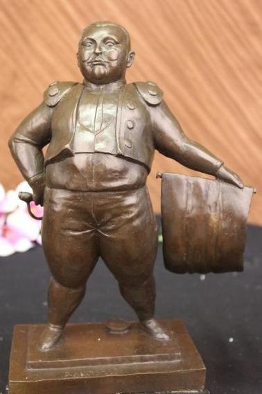 Escultura En Bronce Torero De Manship Y Toro De Botero
