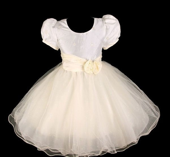 Vestido Infantil Festa Dama Florista Tafetá Tamanho 4