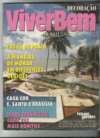 Viver Bem Brasil 11 /1996/ Revista De Decoração/recorte Capa