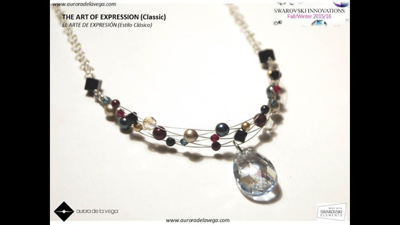 Collar De Perlas Con Acero Inox Y Rodio Aurora De La Vega