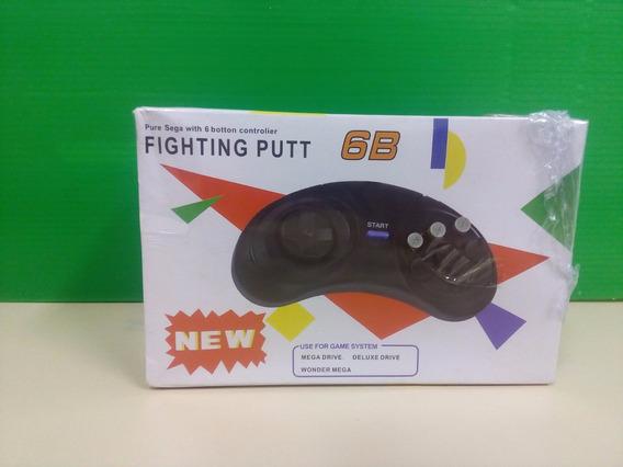 01 Mega Drive: Controle De 6 Botões N O V O, Muito Barato!!