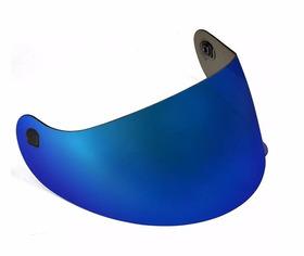 Viseira Metalizada Azul Spike Peels