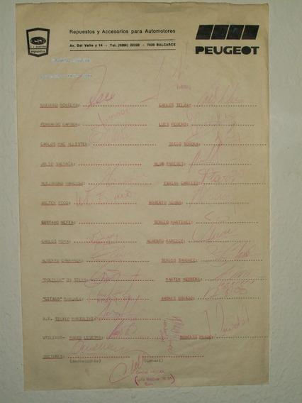Autografos Plantel De Boca 1995 - 1996 Completo