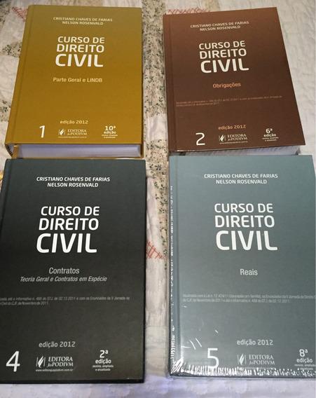 Coleção Direito Civil Cristiano Chaves 2012 04 Volumes
