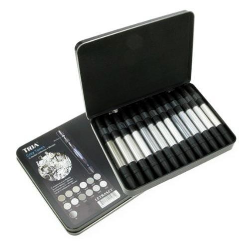 Marcador Tria Letra Set 3pontas Pro Marker Cj12 Grey Tones