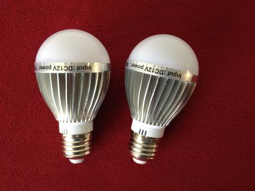Imagen 1 de 3 de Dos Focos 12 Voltios De 7 Watts Dc Led Para Kit Panel Solar