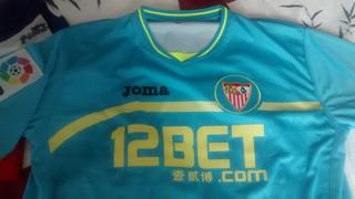 Camisa Sevilla De Jogo Oficial N°24, Medel, Rara.