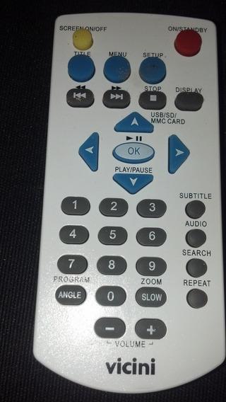 Controle Remoto Dvd Portátil Vicini Vc-6100/6200