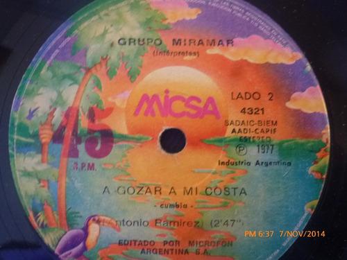 Vinilo Single De Grupo Miramar -- Una Lagrima Un Recue( S77