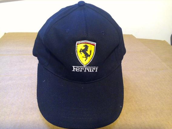 Ferrari - Boné - Estampa Bordado - Tam. Ajustável - Novo