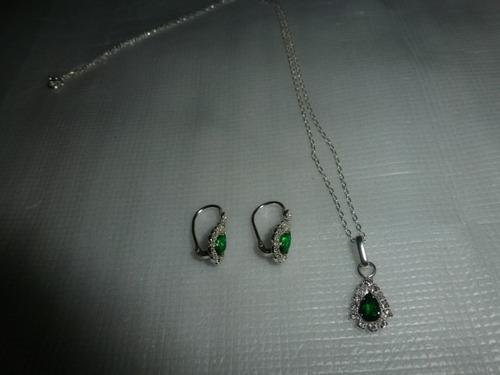 cc58c033250a Conjunto Collar Aretes Liz Claiborne Joyas Cadenas - Joyas - Mercado ...