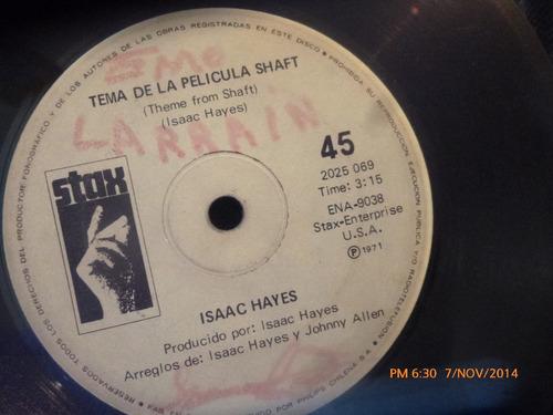 Vinilo Single De Isaac Hayes - Tema De La Pelicula Sha( S115