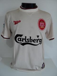 Camisa Liverpool Home 96-97 Owen 18 Patch Premier Importada