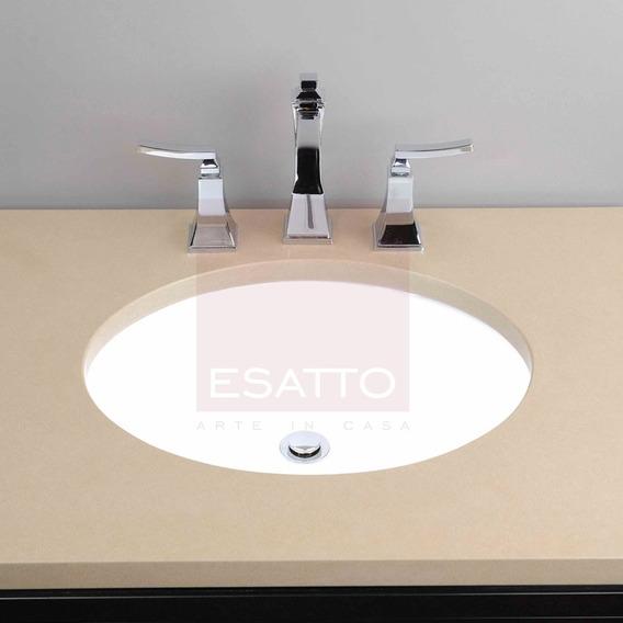 Esatto ® - Ovalín Lavabo De Ceramica Blanca Submontar Oc-062