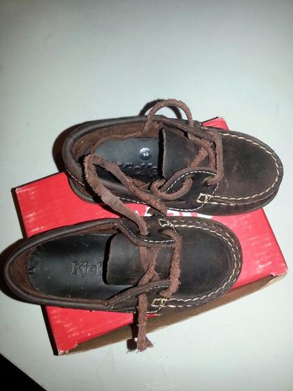 Zapatos Kickers Colegial De Cuero. Talle 22 Varón. Sin Uso!!