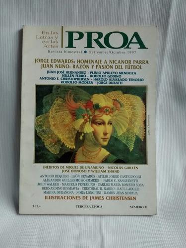 Imagen 1 de 4 de Proa Letras Y Artes Nicanor Parra Sept/ Octubre 1997 N° 31